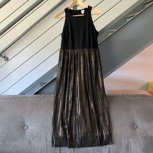 GAP midi black & gold dress